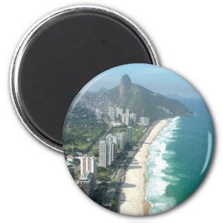 I Love Rio de Janeiro 6 Cm Round Magnet