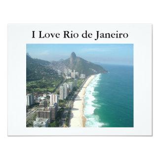 """I Love Rio de Janeiro 4.25"""" X 5.5"""" Invitation Card"""