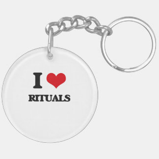 I Love Rituals Double-Sided Round Acrylic Keychain