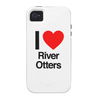 i love river otters Case-Mate iPhone 4 cover