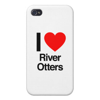 i love river otters iPhone 4 cover