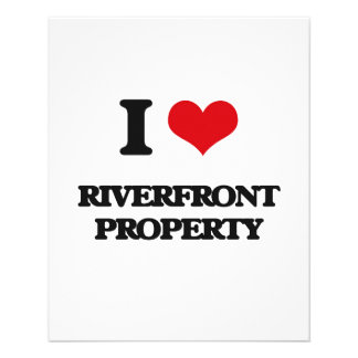 I Love Riverfront Property 11.5 Cm X 14 Cm Flyer