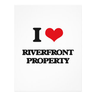 I Love Riverfront Property 21.5 Cm X 28 Cm Flyer