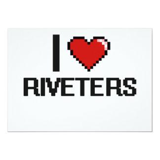 I love Riveters 5x7 Paper Invitation Card