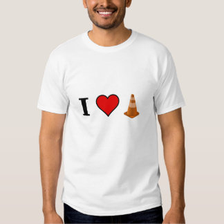 I LOVE ROAD CONE T SHIRTS