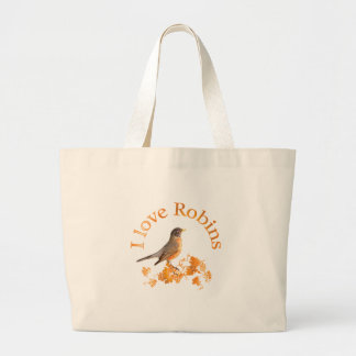 I Love Robins Canvas Bag