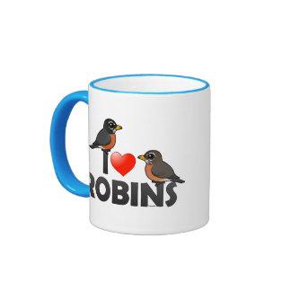 I Love Robins Coffee Mugs