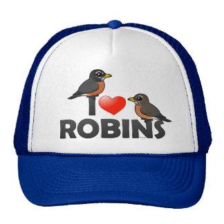 I Love Robins Mesh Hats