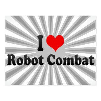 I love Robot Combat Postcard