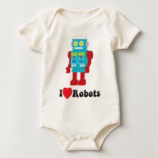 I Love Robots! Baby Bodysuit