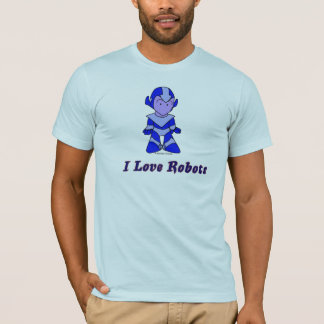 """I Love Robots"" (blue) T-Shirt"