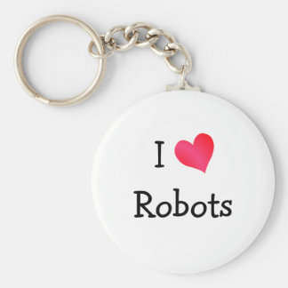 I Love Robots Key Ring