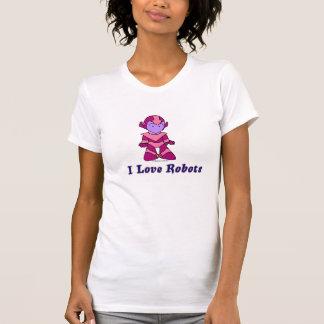 """I Love Robots"" (pink) Shirts"
