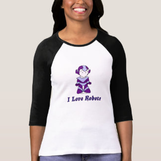 """I Love Robots"" (purple) T Shirts"