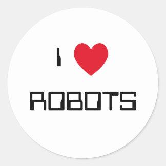 I Love Robots Stickers