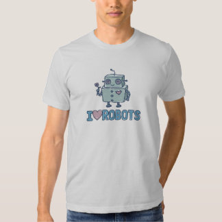 I Love Robots Tee Shirt