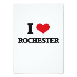 """I love Rochester 5"""" X 7"""" Invitation Card"""