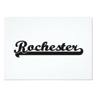 I love Rochester New York Classic Design 13 Cm X 18 Cm Invitation Card