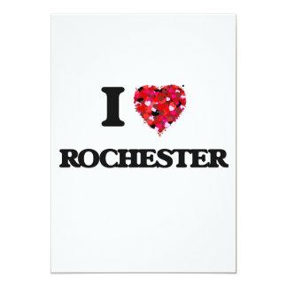 I love Rochester New York 13 Cm X 18 Cm Invitation Card