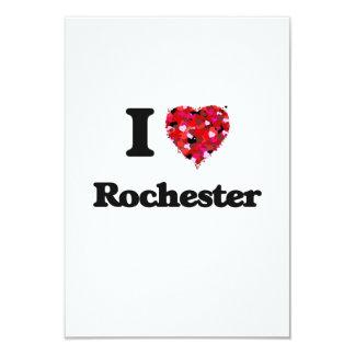 I love Rochester New York 9 Cm X 13 Cm Invitation Card