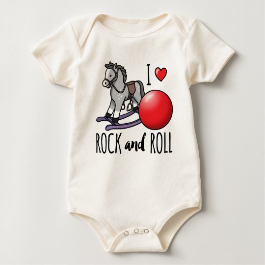 I Love Rock and Roll Baby Bodysuit