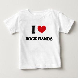 I love Rock Bands Tee Shirts