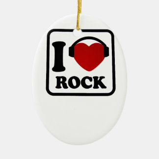 I love Rock Christmas Ornament