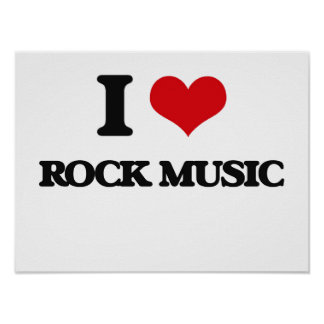 I Love Rock Music Poster