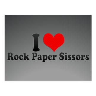 I love Rock Paper Sissors Postcards