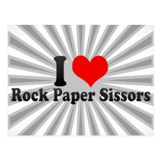 I love Rock Paper Sissors Postcard
