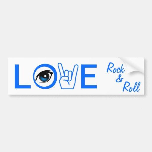 I Love Rock & Roll Bumper Stickers