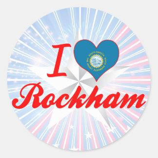 I Love Rockham, South Dakota Round Sticker