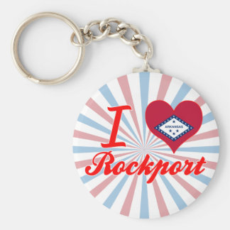I Love Rockport, Arkansas Basic Round Button Key Ring