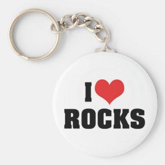 I Love Rocks Keychain