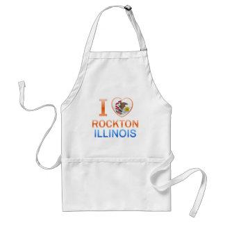 I Love Rockton, IL Adult Apron