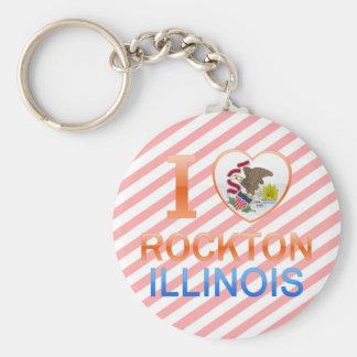 I Love Rockton, IL Basic Round Button Key Ring