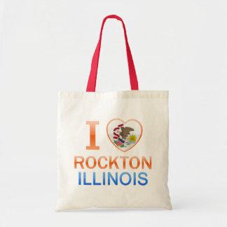 I Love Rockton, IL Tote Bags