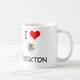 I Love ROCKTON Illinois Basic White Mug