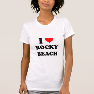 I Love Rocky Beach Rhode Island T-Shirt