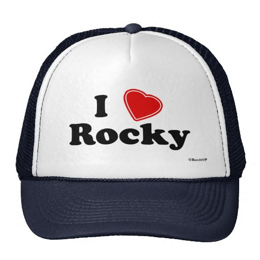 I Love Rocky Mesh Hats