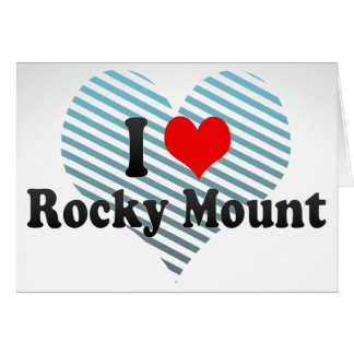 I Love Rocky Mount, United States Greeting Card