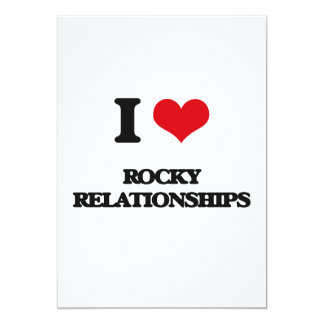 I Love Rocky Relationships 5x7 Paper Invitation Card