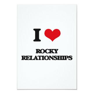 "I Love Rocky Relationships 3.5"" X 5"" Invitation Card"