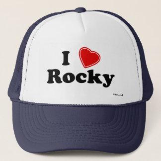 I Love Rocky Trucker Hat