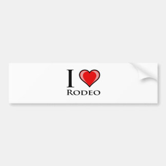 I Love Rodeo Bumper Sticker