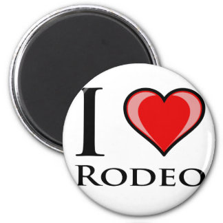 I Love Rodeo Refrigerator Magnets