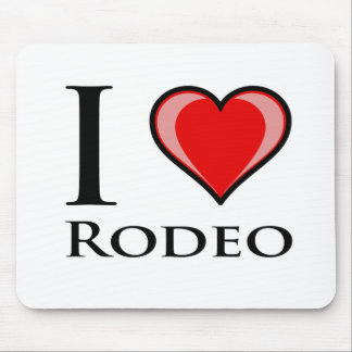 I Love Rodeo Mouse Pad
