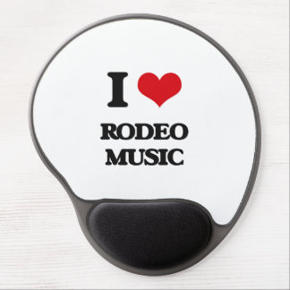 I Love RODEO MUSIC Gel Mouse Mats