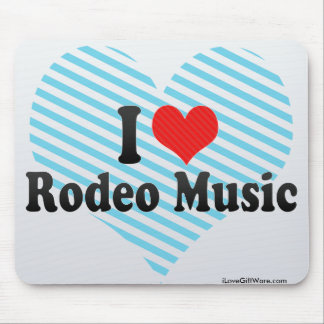 I Love Rodeo Music Mousepads