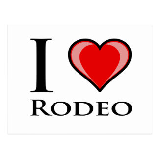 I Love Rodeo Postcard